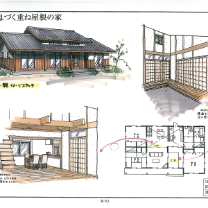 伝統が息づく重ね屋根の家