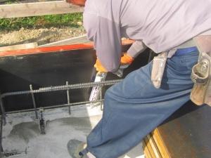 基礎立上り継手防水処理写真