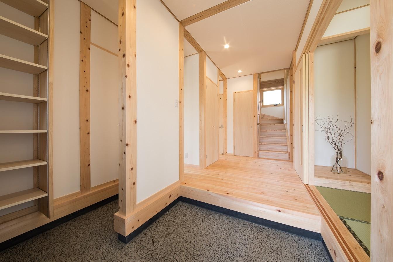 和風住宅の玄関