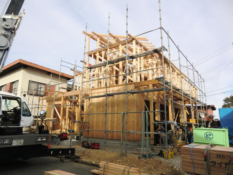 建築中の注文住宅