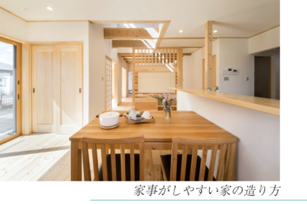 静岡の注文住宅 家事動線を考えた間取りと施工事例