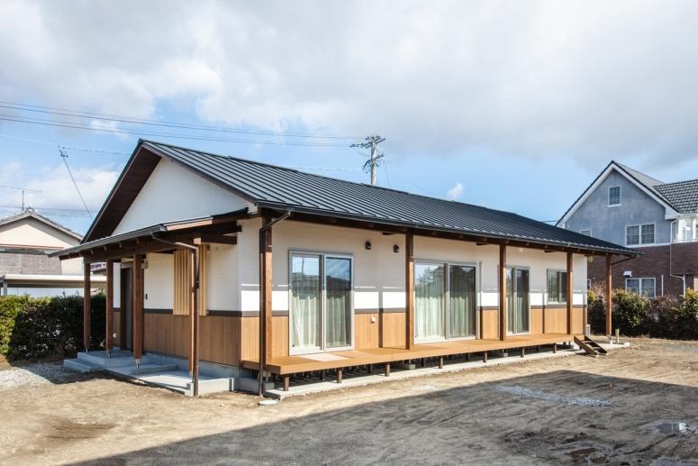 雨楽な家 自由設計の平屋